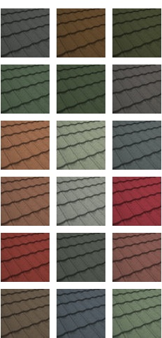 Mather Roof Coating Colour Range